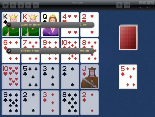 Poker Lines - screenshot