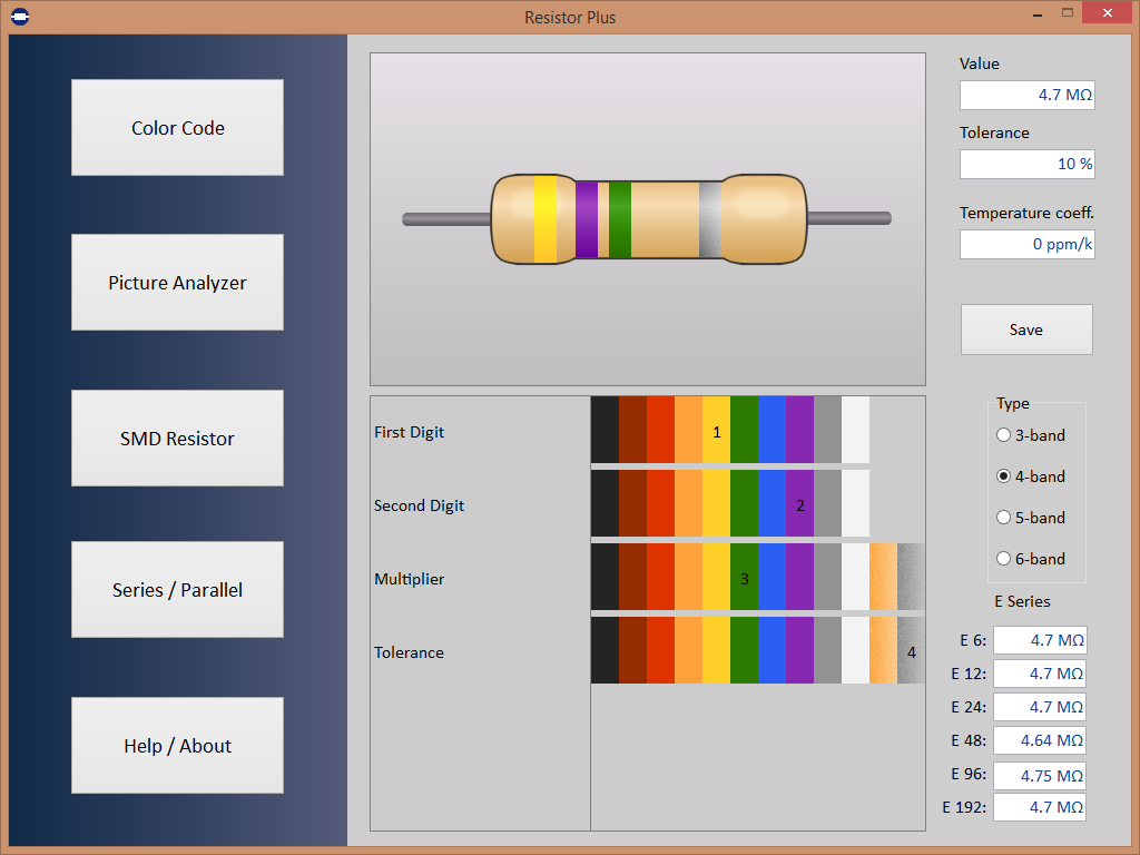 Resistor Plus Screenshot